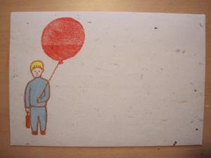 赤い風船の封筒