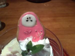 乙女パフェ 姫だるまクッキー