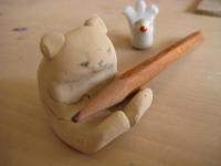 白クマのはしおき 九谷焼