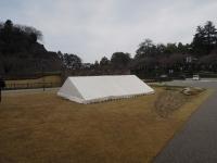 テントがぽつり