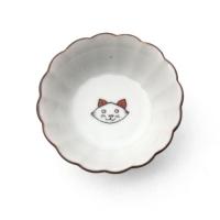 KUTANI SEAL 菊小皿 ネコ