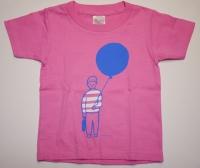 赤池佳江子 イラストTシャツ ピンク