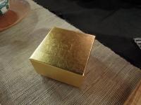 金箔の箱 茶杯