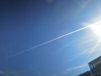しいのき迎賓館 冬の友 飛行機雲