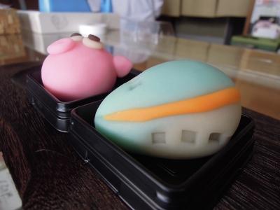春ららら市2016準備 はやし菓子店 和菓子 新幹線上生菓子