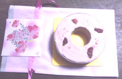 母の日イチゴバームクーヘンケーキ