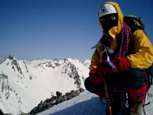 前穂高岳山頂にて