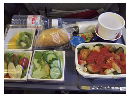 JAL vegetarian lunch