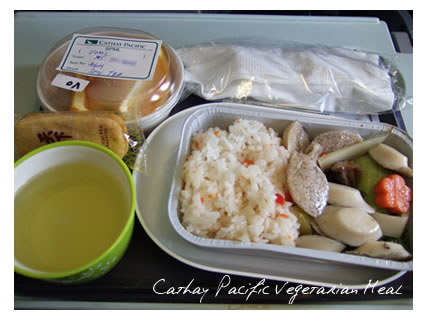cathay pacific vegetarian meal