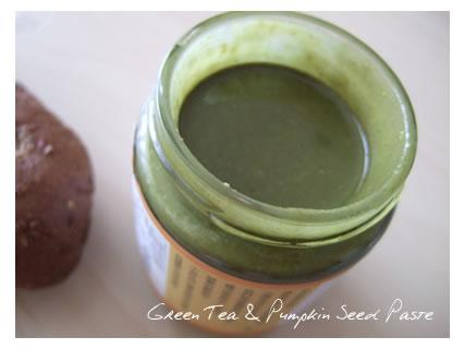 Green Tea & Pumpkin Seed Paste