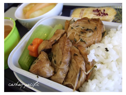 cathay pacific 機内食