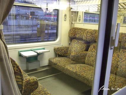 ウィーンからの電車