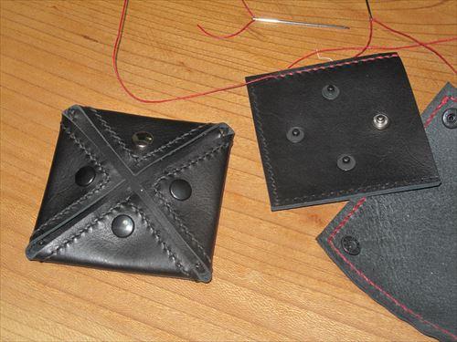 黒革コインケース