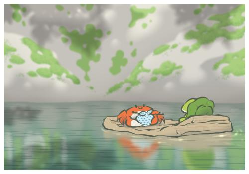 かにさんと川
