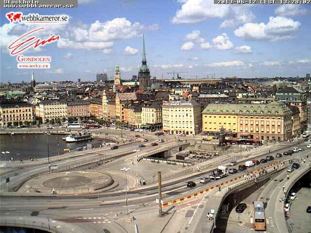 Stockholm, Slussen スウェーデン どこかの国のライブカメラ ライブカメラ 海外 旅行 写真