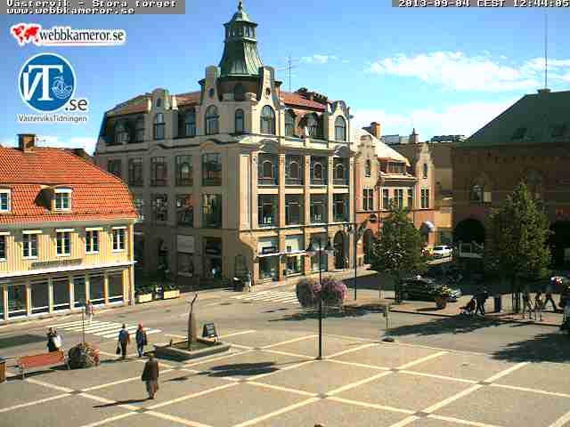 Västervik–Stora torget スウェーデン どこかの国のライブカメラ ライブカメラ 海外 旅行 写真