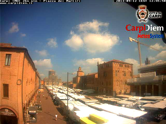 Carpi イタリア どこかの国のライブカメラ ライブカメラ 海外 旅行 写真