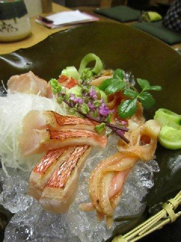金目鯛と赤貝(万松).JPG