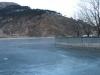万里の長城 川が凍っている