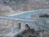 万里の長城 川が凍っている 上から見たところ