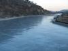 川の上で撮影