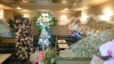 店内生花装飾