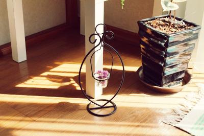 ニトリのキャンドルホルダー リビング インテリア画像