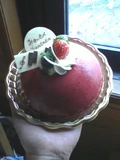 発表会の記念品のケーキ
