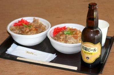 豚丼&川場ビール