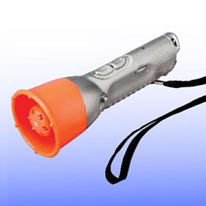 強烈な音と光で防犯・防災対策!防犯撃退ライト