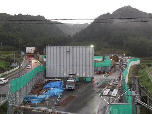 新紀見トンネル工事中 国道371号線