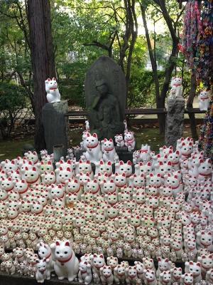 豪徳寺の招き猫達