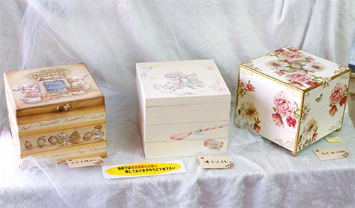 元木千晴、堰千江、浅井和江、各先生型の作品