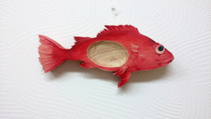 キンキの魚形トレイ