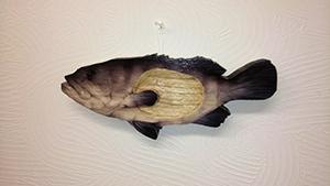 ハタの魚形トレイ