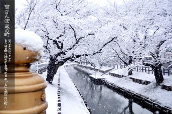 川越 新河岸川 雪さんぽ