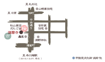川越 蓮馨寺 桜マップ