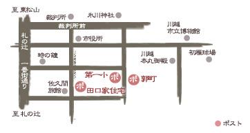 川越マップ ポストのある風景 第一小学校