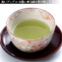 かなりピンボケ お茶の撮り方