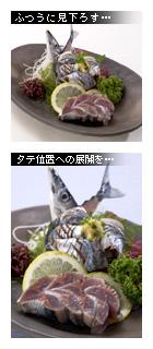 かなりピンボケ 秋刀魚を撮る
