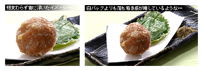 梅干しの天ぷら 比較b