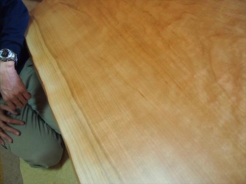 チェリー一枚板座卓