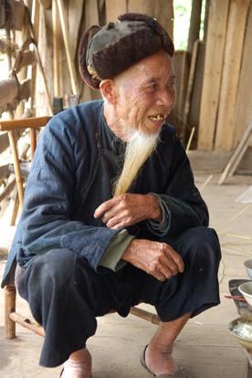 80歳を超えたミャオ族のおじいさん