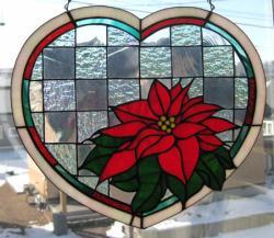 ポインセチア ステンドグラス クリスマス