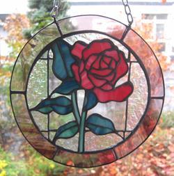 ステンドグラス バラ 薔薇