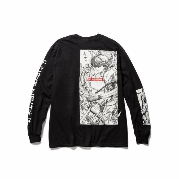 F-LAGSTUF-F フラグスタフ PLAY LS Tee BLACK back.jpg