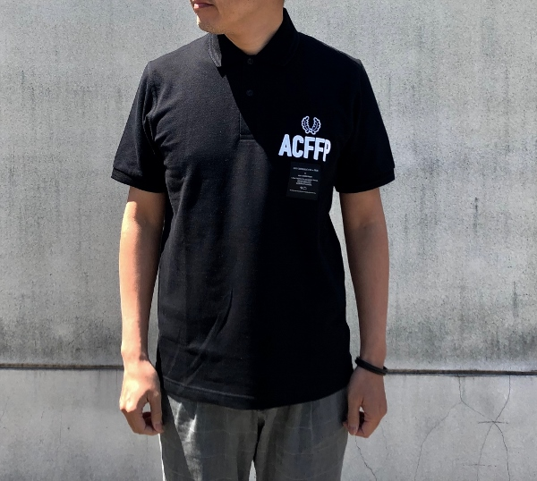 Art Comes First Embroidered Fred Perry Shirt black フレッドペリー (600x538).jpg