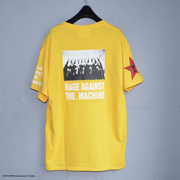Rage Against Machine Multi Tee yellow ラブラット (600x600).jpg