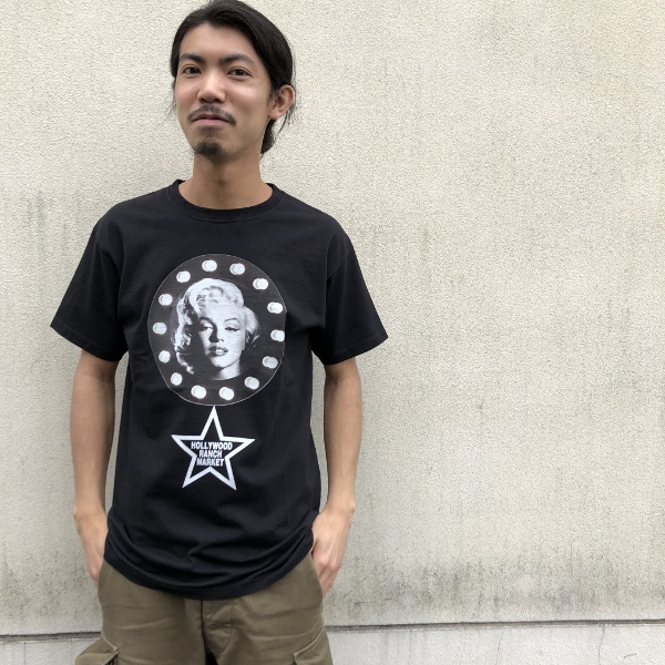 MARILYN MONROE・HRM スターTシャツ 黒 (600x600).jpg