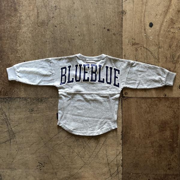 RUSSELL・BLUE BLUE ビッグロゴ フットボールTシャツ キッズ グレー (600x600).jpg